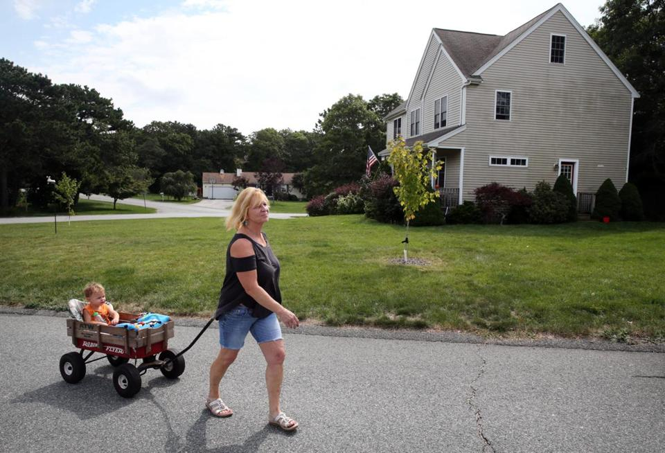 Susan Anderson Lopes took a walk with her 2-year-old grandson, Mason Anderson.